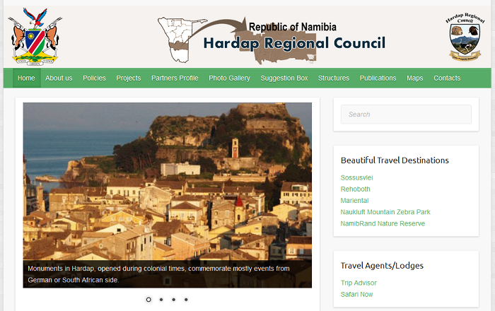 Hardap Region Council – Website